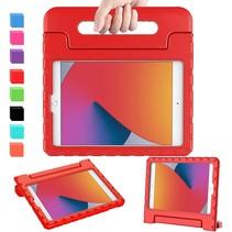 iPad 10.2 2019 / 2020 / 2021 hoes - Schokbestendige case met handvat - Rood