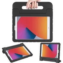 iPad 10.2 2019 / 2020 / 2021 hoes - Schokbestendige case met handvat - Zwart