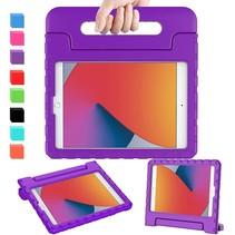 iPad 10.2 2019 / 2020 / 2021 hoes - Schokbestendige case met handvat - Paars