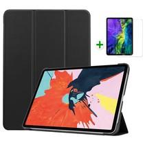 iPad Air 2020 hoes - 10.9 inch - hoes en Screenprotector - Tablet hoes met Auto sleep/wake Functie - Zwart