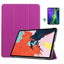 iPad Air 2020 hoes - 10.9 inch - hoes en Screenprotector - Tablet hoes met Auto sleep/wake Functie - Paars