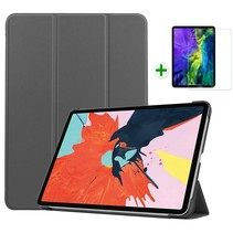 iPad Air 2020 hoes - 10.9 inch - hoes en Screenprotector - Tablet hoes met Auto sleep/wake Functie - Grijs