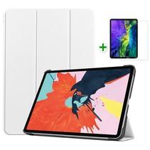 iPad Air 2020 hoes - 10.9 inch - hoes en Screenprotector - Tablet hoes met Auto sleep/wake Functie - Wit