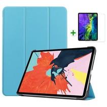 iPad Air 2020 hoes - 10.9 inch - hoes en Screenprotector - Tablet hoes met Auto sleep/wake Functie - Licht Blauw