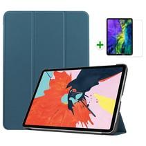 iPad Air 2020 hoes - 10.9 inch - hoes en Screenprotector - Tablet hoes met Auto sleep/wake Functie - Donker Groen