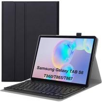 Samsung Galaxy Tab S6 Case - Bluetooth toetsenbord hoes - QWERTY layout - Magneetsluiting - Sleep/Wake-up functie - Zwart