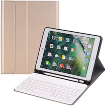 iPad 10.2 inch 2019 / 2020 Bluetooth Toetsenbord Hoes - Keyboard Case met Stylus Pen Houder - Goud