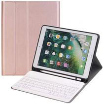 iPad 2020 hoes - 10.2 inch - Bluetooth Toetsenbord Case met Stylus pen houder - Roze