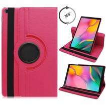 Samsung Galaxy Tab A 10.1 (2019) hoes - Draaibare Book Case  - Magenta