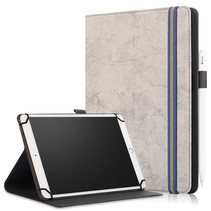 Universele Lenovo Tablet Hoes - Wallet Book Case - Auto Sleep/Wake - Grijs