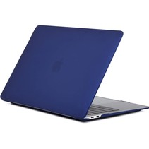 Macbook Pro 13 inch (2020) cover - Laptop Case - Plastic Hard Cover - Donker Blauw