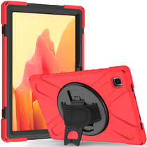 Samsung Galaxy Tab A7 (2020) hoes - 10.4 inch - Hand Strap Armor Case - Rood