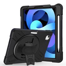 iPad Air 10.9 (2020) hoes - Hand Strap Armor Case - Zwart