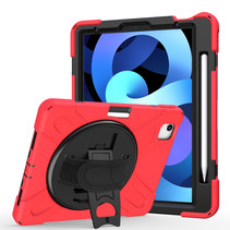 iPad Air 10.9 (2020) hoes - Hand Strap Armor Case - Rood