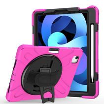 iPad Air 10.9 (2020) hoes - Hand Strap Armor Case - Magenta