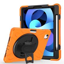 iPad Air 10.9 (2020) hoes - Hand Strap Armor Case - Oranje