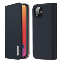 iPhone 12 Mini hoesje - Dux Ducis Wish Wallet Book Case - Blauw