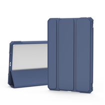 iPad Air 10.9 2020 hoes - Schokbestendige Tri-Fold Case met TPU frame - Alpha Smart Folio Case - Blauw