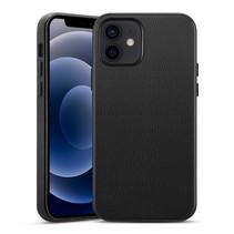 ESR Metro Premium - iPhone 12 Mini Hoes - Schokbestendige Back Cover - PU leren Back Cover - Zwart