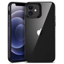 ESR Halo - iPhone 12 Mini Hoes - Schokbestendige Back Cover - Soft TPU Back Cover - Transparant/Zwart