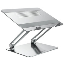 Laptopstandaard - Universeel - Verstelbaar - Inklapbaar - Aluminium - 13, 14, 15, 16 en 17 inch - Antislip - Stabiel - Apple Macbook Pro/Air - iPad - Asus - HP - Acer - Microsoft - Lenovo - Windows - Tablet - Stand