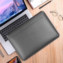 WIWU Alita MacBook Pro Sleeve - 15.4 inch - Slim Stand Macbook Standaard - Zwart