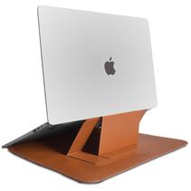 WIWU Alita MacBook Pro Sleeve - 15.4 inch - Slim Stand Macbook Standaard -  Bruin