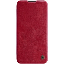 Huawei P40 Lite Hoesje - Qin Leather Case - Flip Cover - Rood