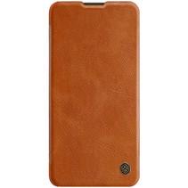 Nillkin - Huawei P40 Hoesje - Qin Leather Case - Flip Cover - Geschikt voor 2 pasjes - Bruin