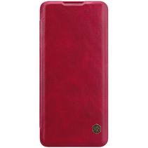 Nillkin - Huawei P40 Pro Plus Hoesje - Qin Leather Case - Flip Cover - Geschikt voor 2 pasjes - Rood
