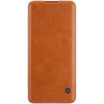 Nillkin - Huawei P40 Pro Plus Hoesje - Qin Leather Case - Flip Cover - Geschikt voor 2 pasjes - Bruin