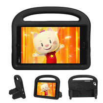 Huawei Mediapad M3 Lite /  M5 Lite hoes - 8.4 inch - Schokbestendige case met handvat - Sparrow Kids Cover - Zwart