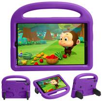 Huawei Mediapad M5/M6 Hoes - 8.4 inch - Schokbestendige case met handvat - Sparrow Kids Cover - Paars