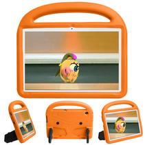 Huawei Mediapad T5 Hoes - 10.1 inch - Schokbestendige case met handvat - Sparrow Kids Cover - Oranje