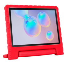 Samsung Galaxy Tab S6 Lite hoes - Schokbestendige case met handvat - Rood