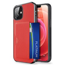Dux Ducis - iPhone 12 Mini hoesje - Pocard Series - Back Cover - Rood