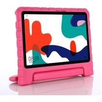 Huawei MatePad 10.4 hoes - Schokbestendige case met handvat - Roze