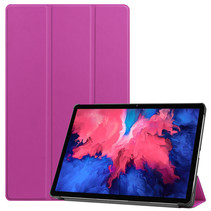 Lenovo Tab P11 Hoes - 11 Inch - Tri-Fold Book Case - Auto Sleep/Wake Functie - Paars