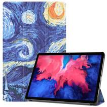 Lenovo Tab P11 Hoes - 11 Inch - Tri-Fold Book Case - Auto Sleep/Wake Functie - Sterrenhemel