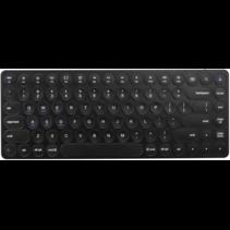 Draadloos Toetsenbord - QWERTY indeling - Wireless Bluetooth Keyboard - 85 toetsen - Windows/Android/IOS - Zwart