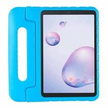 Samsung Galaxy tab A7 (2020) Hoes - 10.4 inch - Schokbestendige case met handvat - Eva Kids Cover - Licht Blauw