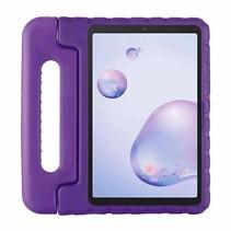 Samsung Galaxy tab A 8.4 (2020) - 8.4 inch - Schokbestendige case met handvat - Eva Kids Cover - Paars