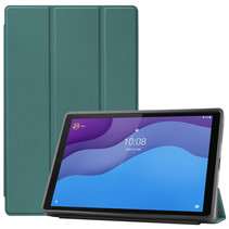 Lenovo Tab M10 Hoes - 10.1 inch - TB-X306f - Book Case met TPU cover - Donker Groen
