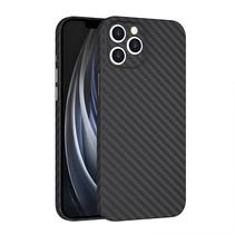 Wiwu - iPhone 12 hoesje - Skin Carbon Case - Kunststof Back Cover - Zwart