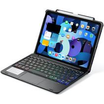 iPad Air 10.9 (2020) case - Bluetooth Toetsenbord hoes - met Touchpad - Zwart