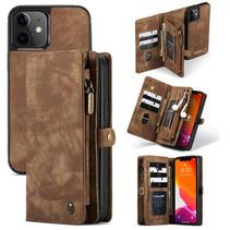 CaseMe - iPhone 12 Mini hoesje - 2 in 1 Wallet Book Case - Bruin