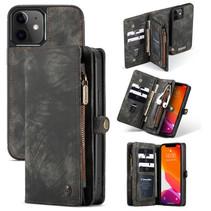 CaseMe - iPhone 12 Mini hoesje - 2 in 1 Wallet Book Case - Zwart