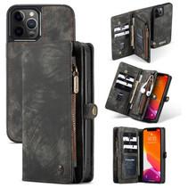 CaseMe - iPhone 12 / 12 Pro hoesje - 2 in 1 Wallet Book Case - Zwart