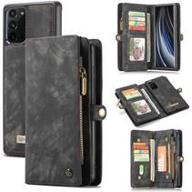 CaseMe - Samsung Galaxy Note 20  hoesje - 2 in 1 Wallet Book Case - Zwart