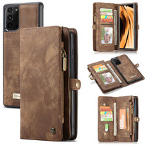 CaseMe - Samsung Galaxy Note 20  hoesje - 2 in 1 Wallet Book Case - Bruin